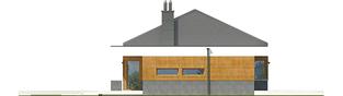 Projekt domu EX 11 G2 (wersja D) soft - elewacja lewa