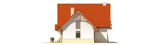 Projekt domu Karolinka G1 - elewacja prawa