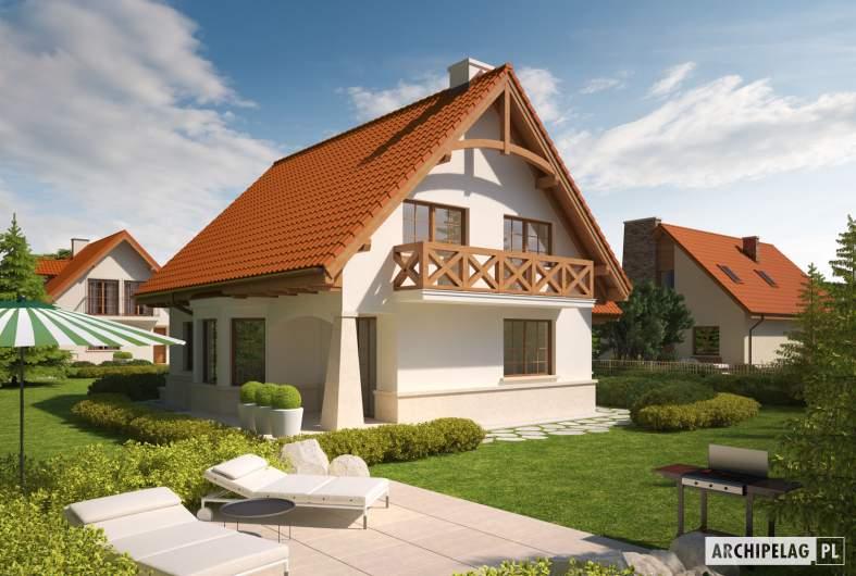 Projekt domu Karolinka G1 - wizualizacja ogrodowa