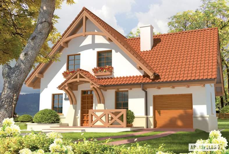Projekt domu Karolinka G1 - wizualizacja frontowa
