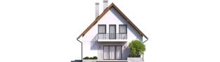 Projekt domu Daga - elewacja tylna