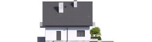 Projekt domu Daga - elewacja prawa