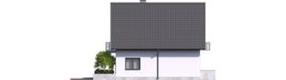 Projekt domu Daga - elewacja lewa