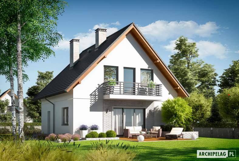 Projekt domu Daga - wizualizacja ogrodowa
