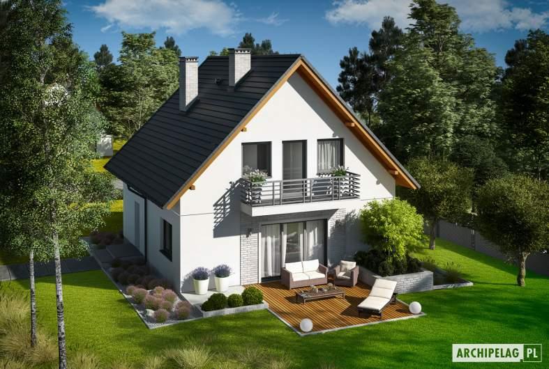 Projekt domu Daga - widok z góry