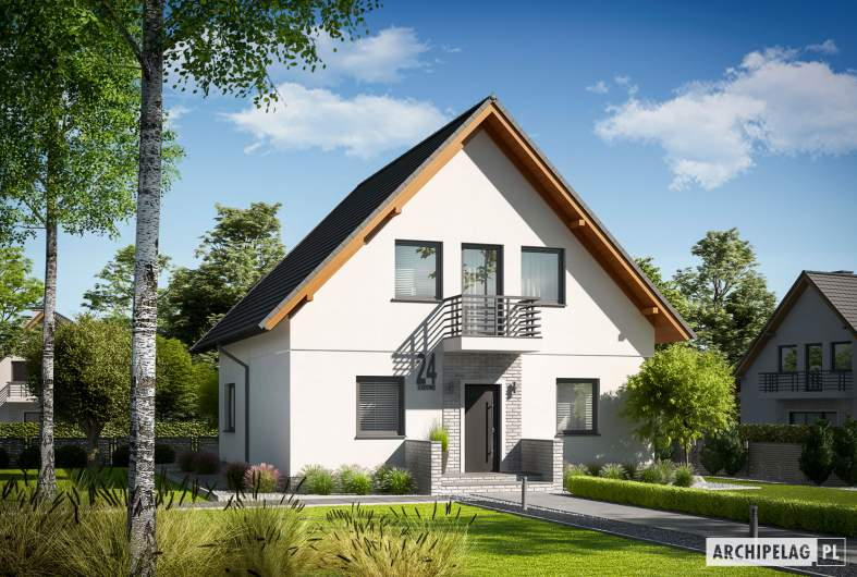 Projekt domu Daga - wizualizacja frontowa
