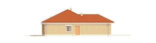 Projekt domu Eris G2 (wersja A) - elewacja lewa
