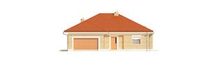 Projekt domu Eris G2 (wersja A) - elewacja frontowa