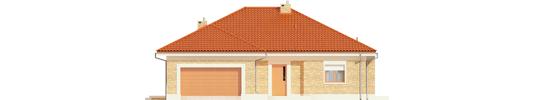 Eris G2 A - Projekty domów ARCHIPELAG - Eris G2 (wersja A) - elewacja frontowa