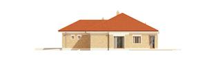 Projekt domu Eris G2 (wersja A) - elewacja prawa