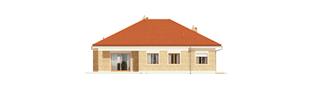 Projekt domu Eris G2 (wersja A) - elewacja tylna