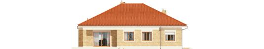 Eris G2 A - Projekty domów ARCHIPELAG - Eris G2 (wersja A) - elewacja tylna