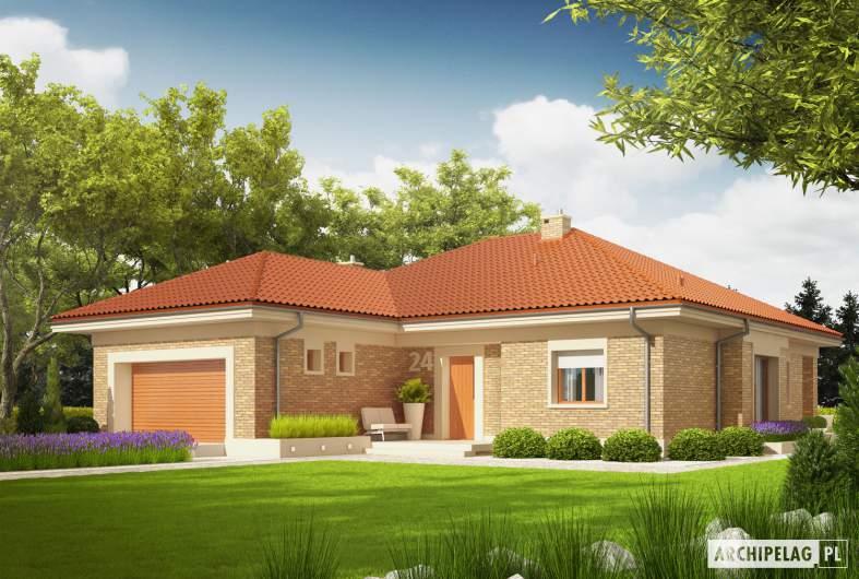 Projekt domu Eris G2 (wersja A) - Projekty domów ARCHIPELAG - Eris G2 (wersja A) - wizualizacja frontowa