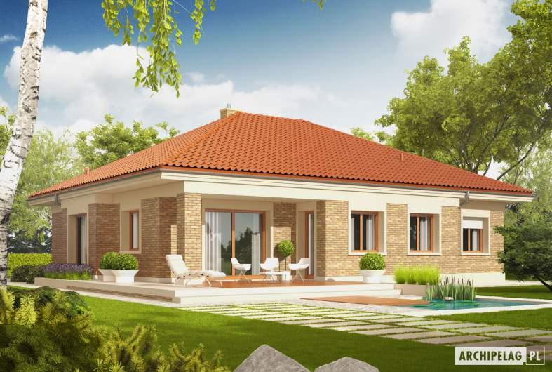 Projekt domu Eris G2 (wersja A) - Projekty domów ARCHIPELAG - Eris G2 (wersja A) - wizualizacja ogrodowa