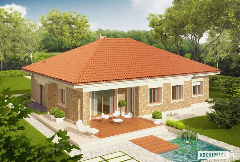 Projekt domu Eris G2 (wersja A) - Projekty domów ARCHIPELAG - Eris G2 (wersja A) - widok z góry