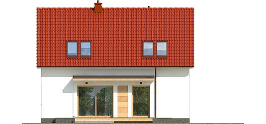 E12 II ECONOMIC A - Projekt domu E12 II ECONOMIC - elewacja tylna