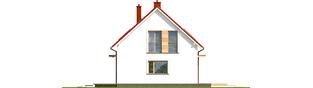 Projekt domu E12 II ECONOMIC - elewacja prawa