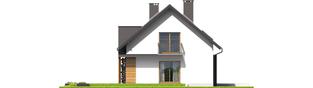 Projekt domu E6 G1 ECONOMIC (wersja A) - elewacja lewa