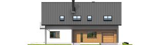Projekt domu E6 G1 ECONOMIC (wersja A) - elewacja frontowa