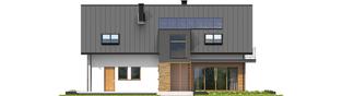 Projekt domu E6 G1 ECONOMIC (wersja A) - elewacja tylna