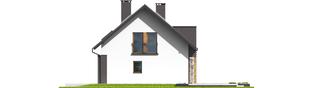 Projekt domu E6 G1 ECONOMIC (wersja A) - elewacja prawa