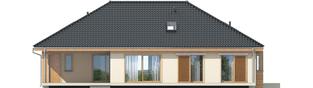 Projekt domu Andrea G1 - elewacja tylna