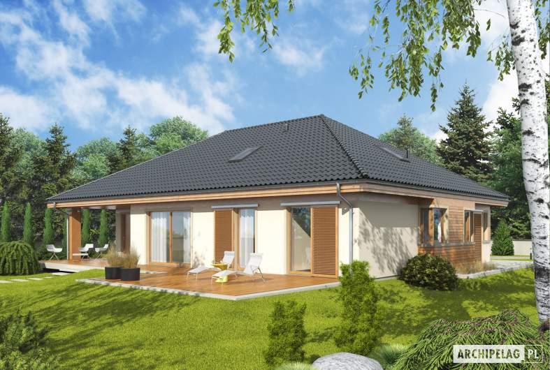 Projekt domu Andrea G1 - wizualizacja ogrodowa