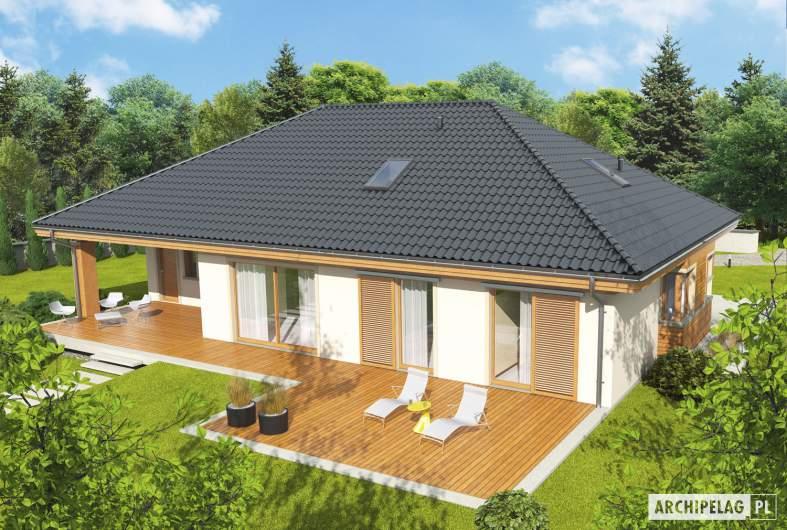 Projekt domu Andrea G1 - widok z góry