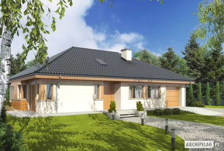 Projekt domu Andrea G1 - wizualizacja frontowa