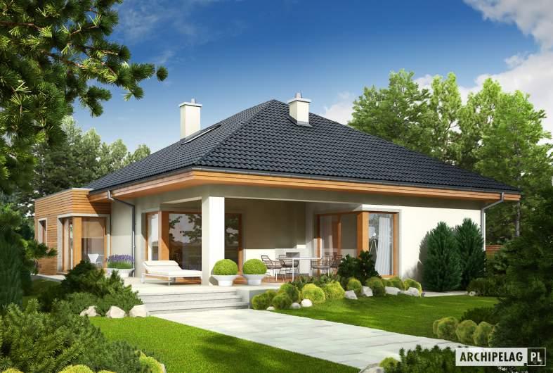Projekt domu Margaret II G2 - Projekty domów ARCHIPELAG - Margaret II G2 - wizualizacja ogrodowa