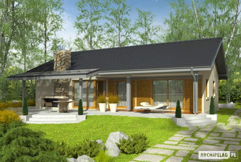Projekt domu Selena II G1 - wizualizacja ogrodowa