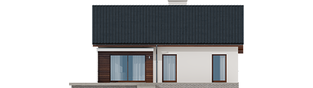 Projekt domu Armando II G1 ENERGO - elewacja tylna