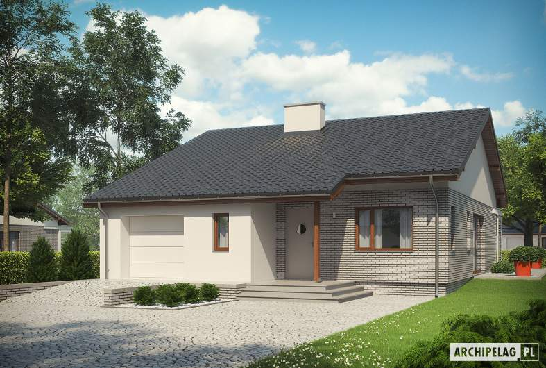 Projekt domu Armando II G1 ENERGO - wizualizacja frontowa