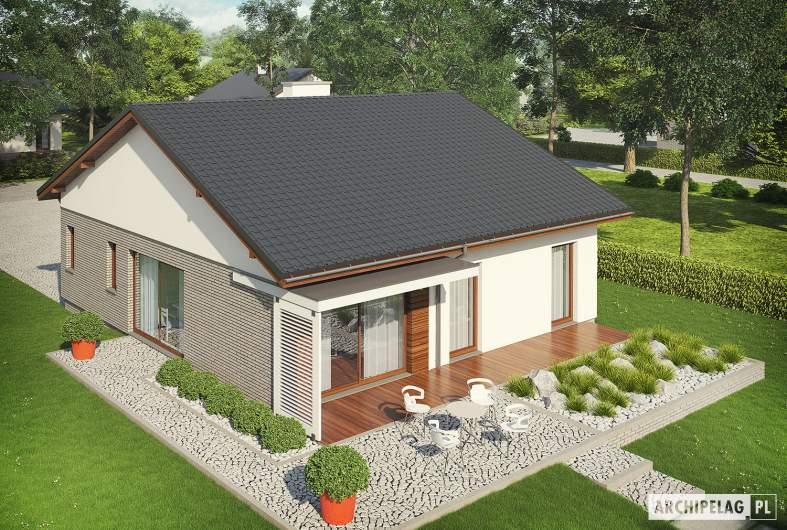Projekt domu Armando II G1 ENERGO - widok z góry