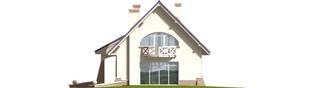 Projekt domu Janeczka - elewacja lewa