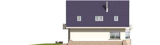 Projekt domu Janeczka - elewacja tylna