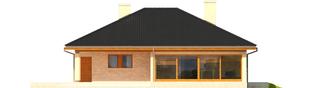Projekt domu Alan III G1 - elewacja tylna