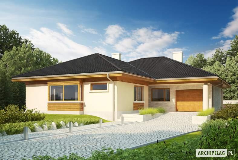 Projekt domu Alan III G1 - wizualizacja frontowa