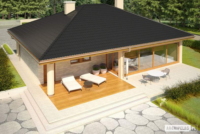 Projekt domu Alan III G1 - widok z góry