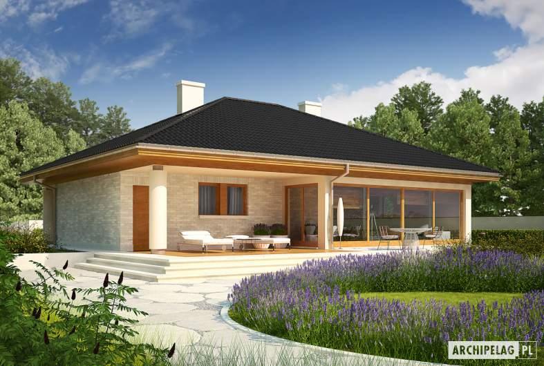 Projekt domu Alan III G1 - wizualizacja ogrodowa