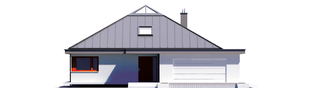 Projekt domu Lorena G2 - elewacja frontowa