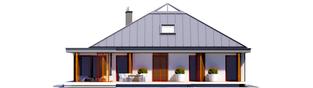 Projekt domu Lorena G2 - elewacja tylna
