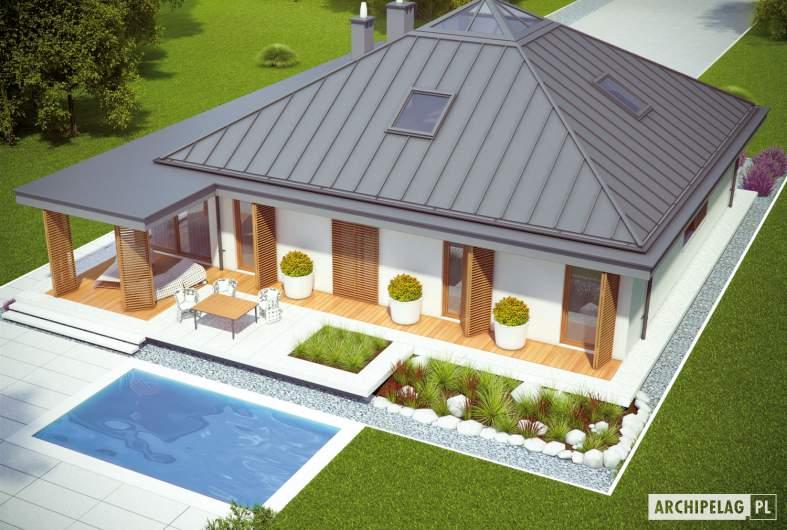 Projekt domu Lorena G2 - widok z góry