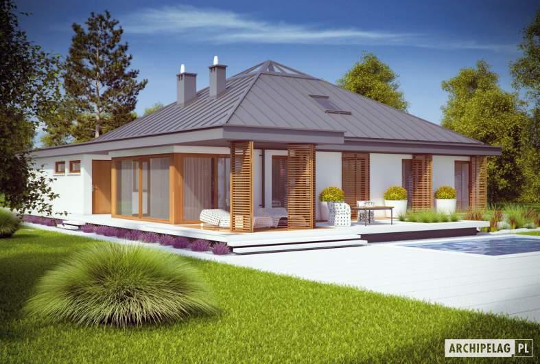 Projekt domu Lorena G2 - wizualizacja ogrodowa