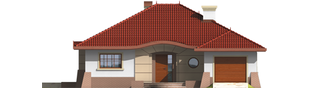 Projekt domu Kornelia G1 01 - elewacja frontowa