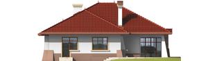 Projekt domu Kornelia G1 01 - elewacja tylna