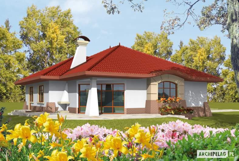 Projekt domu Kornelia G1 01 - wizualizacja ogrodowa