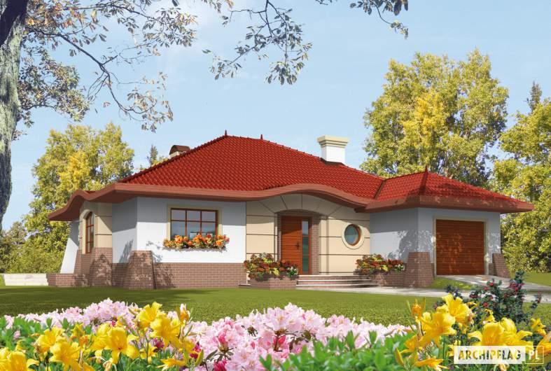 Projekt domu Kornelia G1 01 - wizualizacja frontowa
