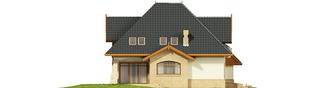 Projekt domu Stokrotka G1 - elewacja lewa
