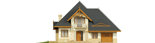 Projekt domu Stokrotka G1 - elewacja frontowa